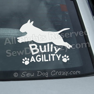 Bull Terrier Agility Car Stickers