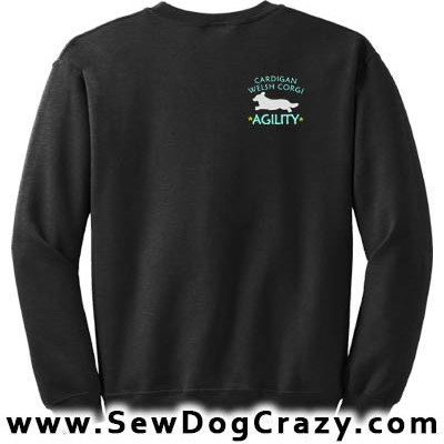 Embroidered Cardigan Welsh Corgi Agility Sweatshirts
