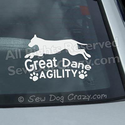 Great Dane Agility Window Sticker