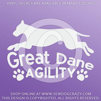 Great Dane Agility Car Sticker