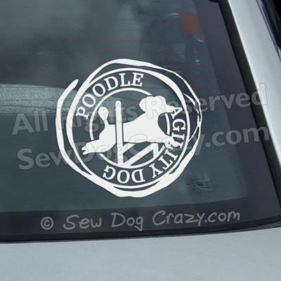 Poodle Agility Window Decals