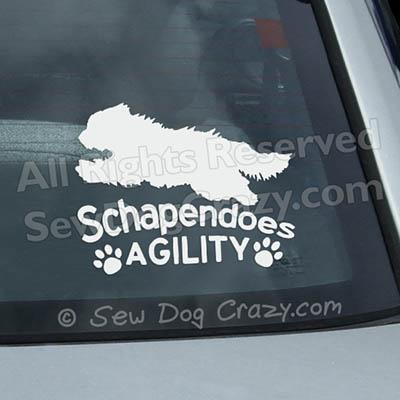 Schapendoes Agility Window Decals