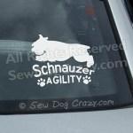 Schnauzer Agility Car Window Stickers