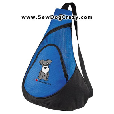Cartoon Embroidered Schnauzer Bag