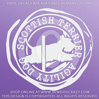 Scottish Terrier Agility Decals