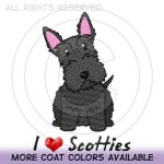 I Heart Scotties Embroidered Gifts