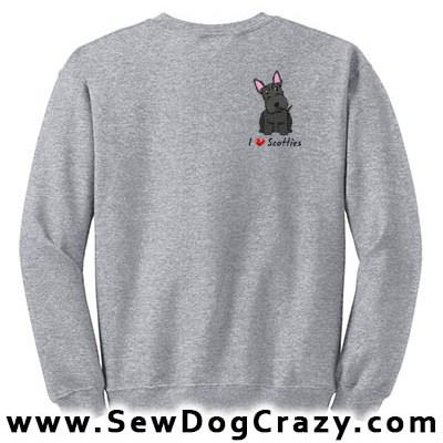 Embroidered Scottie Sweatshirts