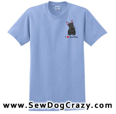 Embroidered Scottish Terrier Teees
