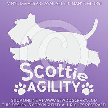 Scottie Agility Dog Decals