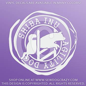 Shiba Inu Agility Dog Decals