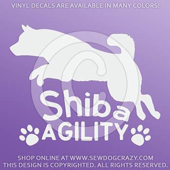 Shiba Inu Agility Decals