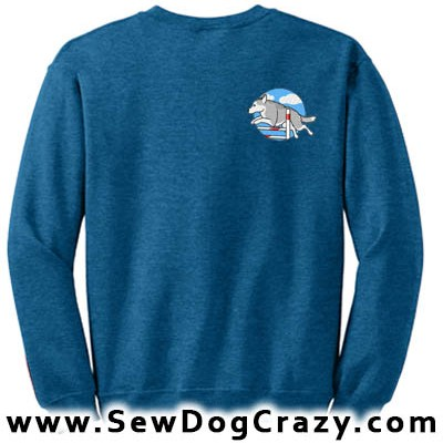 Embroidered Siberian Husky Agility Sweatshirts