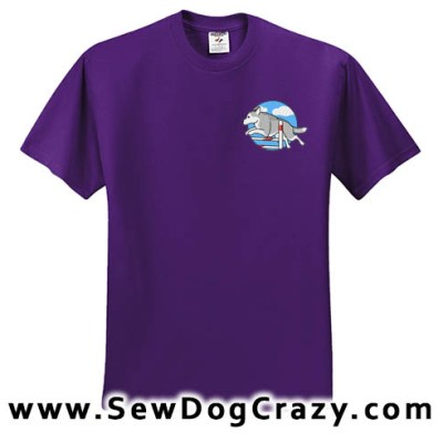 Embroidered Siberian Husky Agility Tees