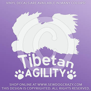 Tibetan Terrier Agility Decals