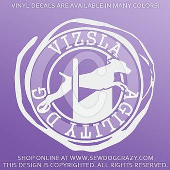 Vizsla Agility Vinyl Stickers