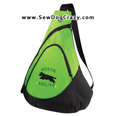 Embroidered Westie Agility Bags