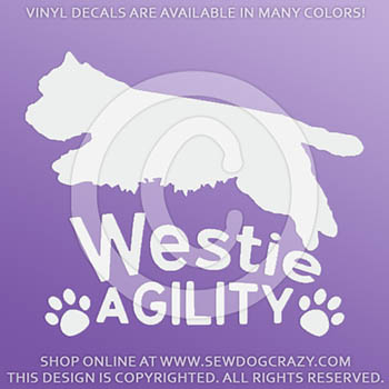 West Highland White Terrier Agility Decals