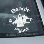 Vinyl Beagle Flyball Window Stickers