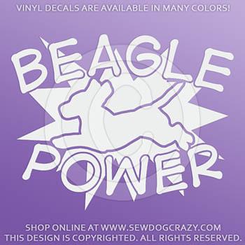 Vinyl Beagle Power Decals
