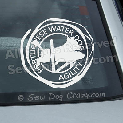 Portuguese Water Dog Agility Window Decals
