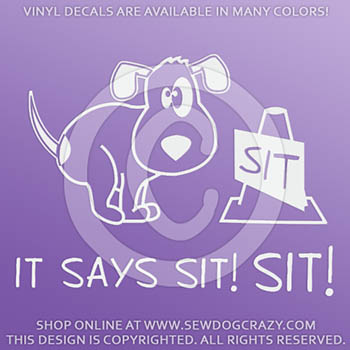 Funny Vinyl Rally Obedience Decals