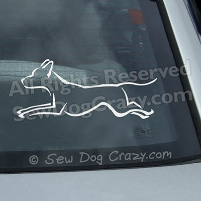 Vinyl Ridgeback Dog Sports Decals