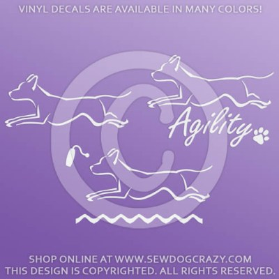 Vinyl Ridgeback Dog Sports Stickers