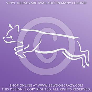 Vinyl Rottweiler Dog Sports Car Decals