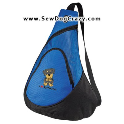 Embroidered Kawaii Rottweiler Bags