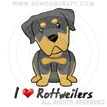 Embroidered Cartoon Rottweiler Gifts