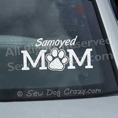 Samoyed Mom Window Stickers