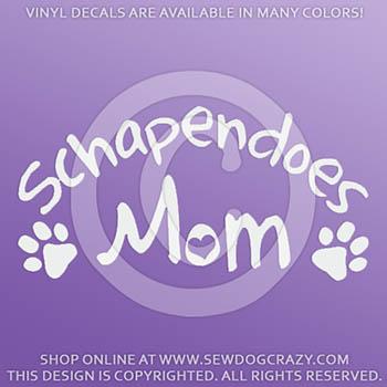 Vinyl Schapendoes Mom Car Decals