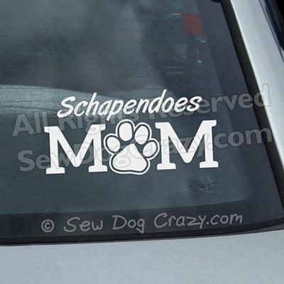 Vinyl Schapendoes Mom Car Stickers