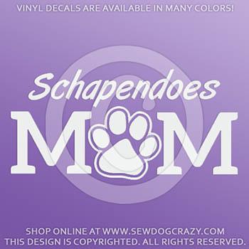 Vinyl Schapendoes Mom Window Stickers