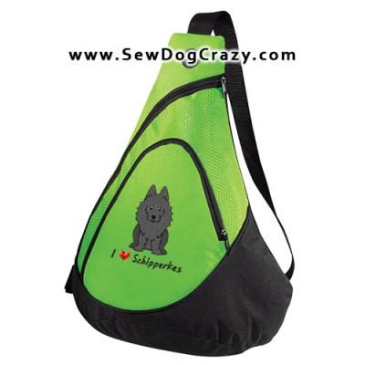 Cartoon I Love Schipperkes Bag