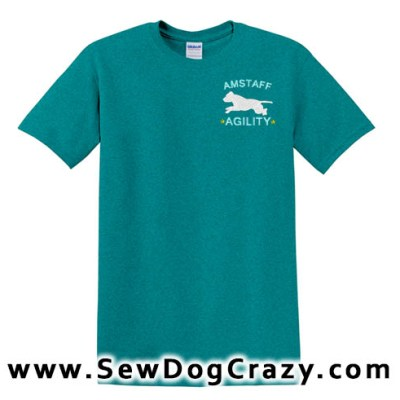 Embroidered AmStaff Agility Tshirts