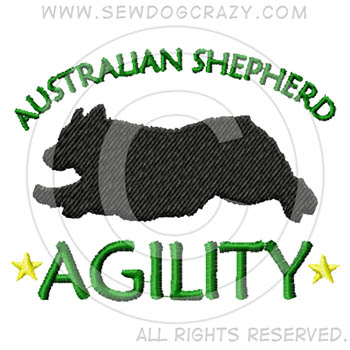Embroidered Australian Shepherd Agility Gifts