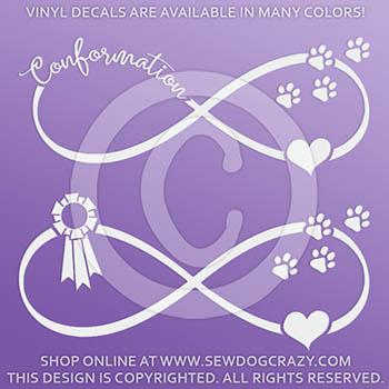 Dog Conformation Vinyl Decals