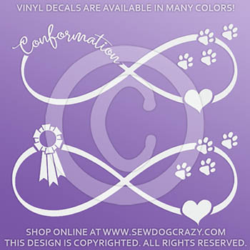 Dog Conformation Vinyl Decals