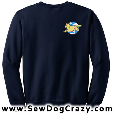 Embroidered Golden Retriever Agility Sweatshirt