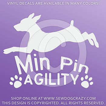 Miniature Pinscher Agility Decals