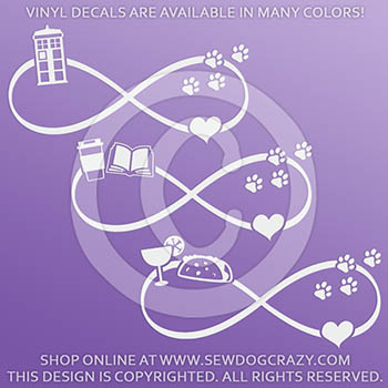 Love Dogs Infinity Decals