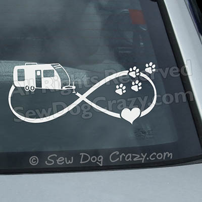 Camping and Dogs Car Window Stickers