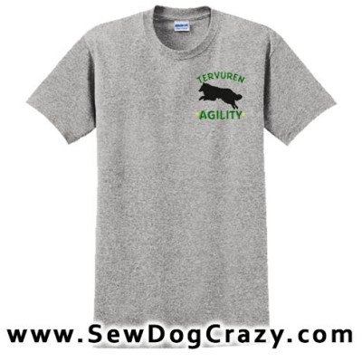 Embroidered Tervuren Agility Tees