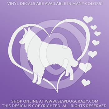 Love Tervurens Vinyl Stickers