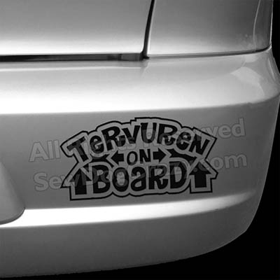 Vinyl Tervuren On Board Car Stickers