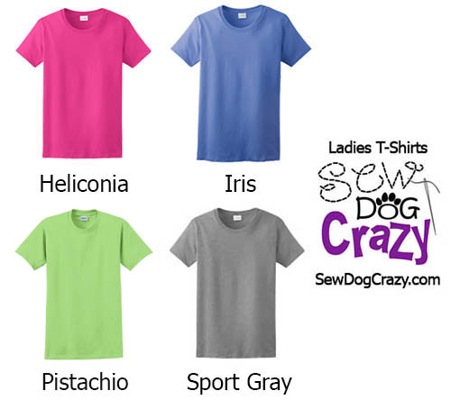 Ladies TShirt Colors