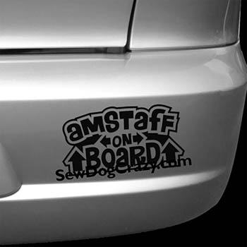AmStaff On Board Car Decals