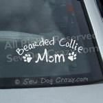 Bearded Collie Mom Car Window Sticker