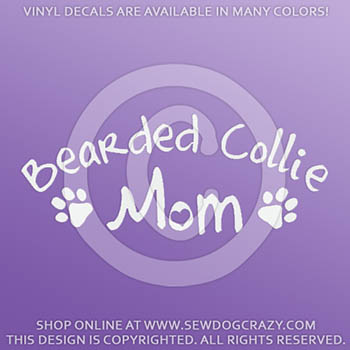 Bearded Collie Mom Decals